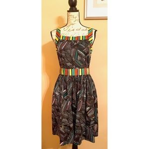 Duro Olowu JCP Cotton Colorful Sleeveless Dress